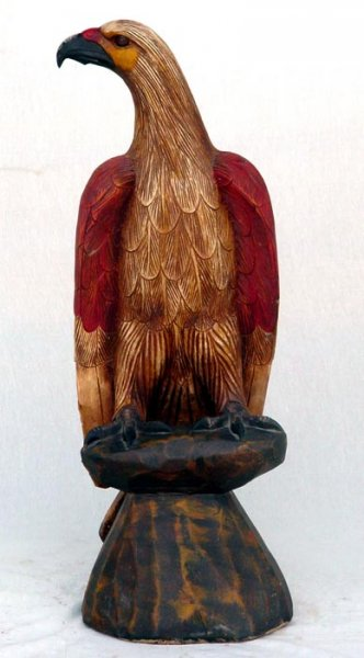 Eagle from wood