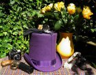 stovepipe top hat purple 2225